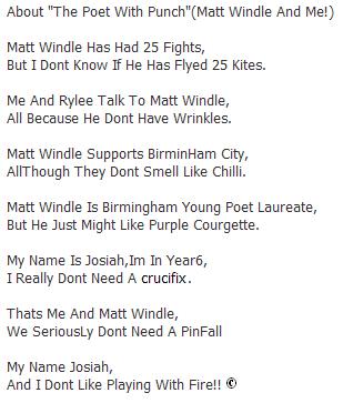 Your Poems | Matt Windle